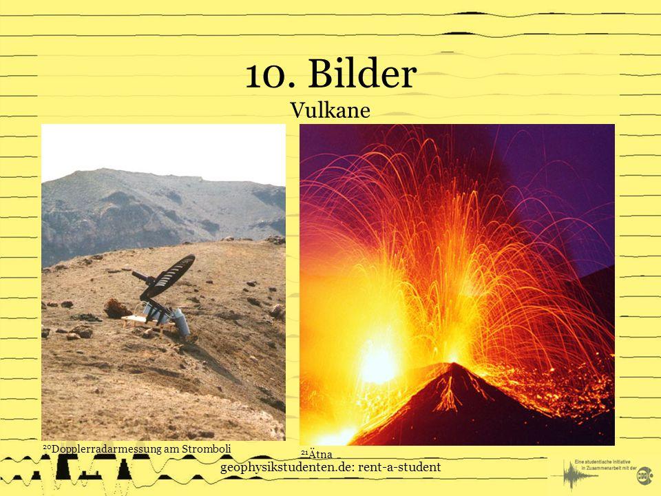 10. Bilder Vulkane geophysikstudenten.de: rent-a-student 20 Dopplerradarmessung am Stromboli 21 Ätna
