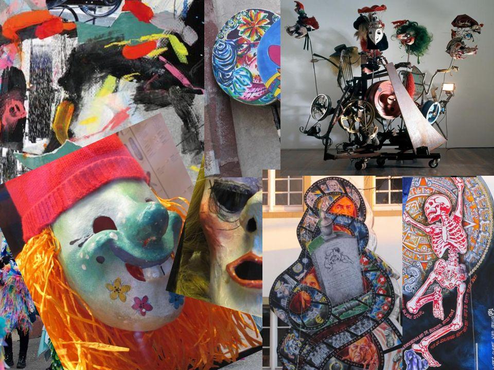 Larven (Masken) anfertigen Baseler Fastnacht Verse dichten Fastnachtslaternen Bänkelsänger Schnitzelbänggler Tinguely – 1991- kinetische Fastnachtspla