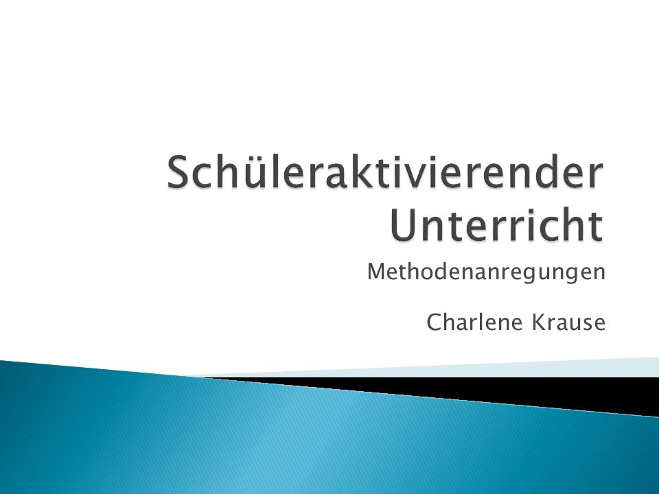 Methodenanregungen Charlene Krause