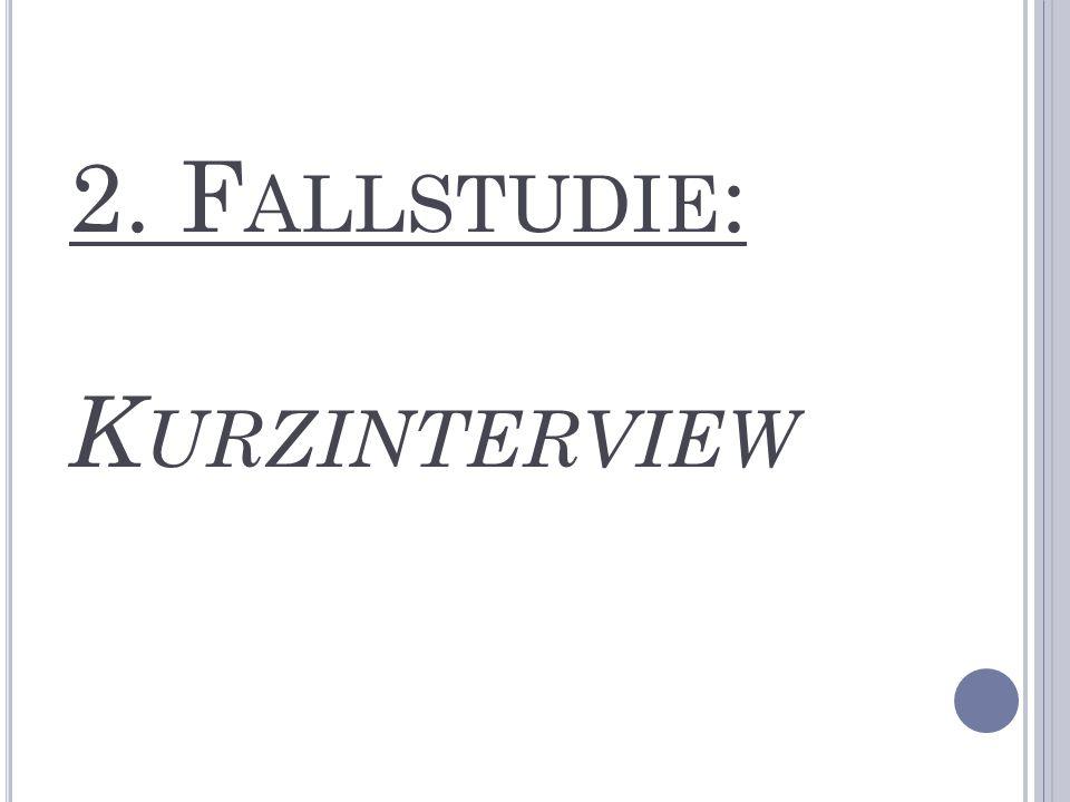 2. F ALLSTUDIE : K URZINTERVIEW