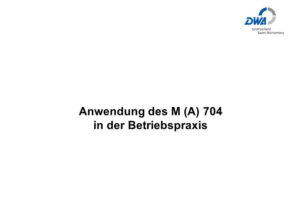 Anwendung des M (A) 704 in der Betriebspraxis