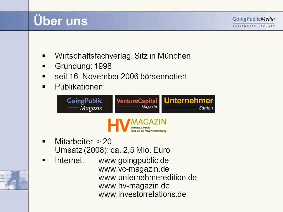 Über uns Wirtschaftsfachverlag, Sitz in München Gründung: 1998 seit 16.