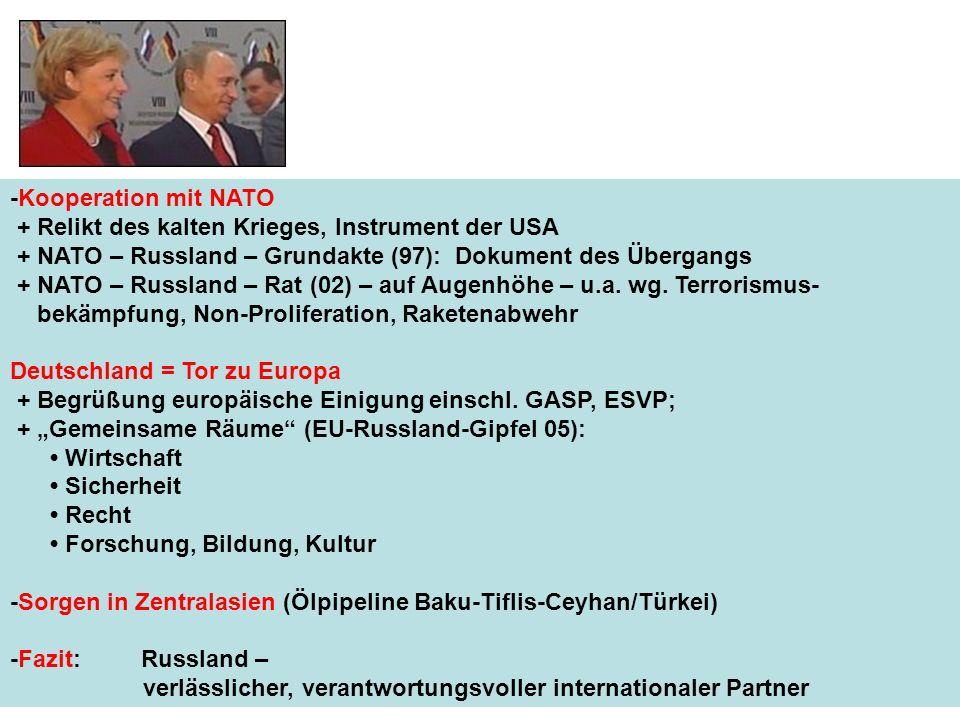 -Kooperation mit NATO + Relikt des kalten Krieges, Instrument der USA + NATO – Russland – Grundakte (97): Dokument des Übergangs + NATO – Russland – R