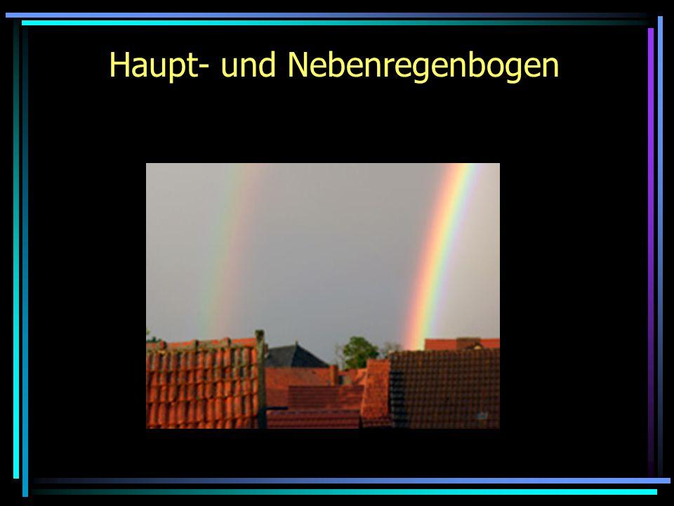 Haupt- und Nebenregenbogen