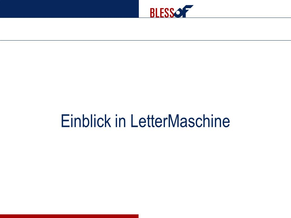 Einblick in LetterMaschine