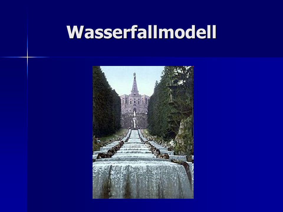 Allgemeines Definition: Das Wasserfallmodell ist ein lineares Vorgehensmodell in der Softwareentwicklung.