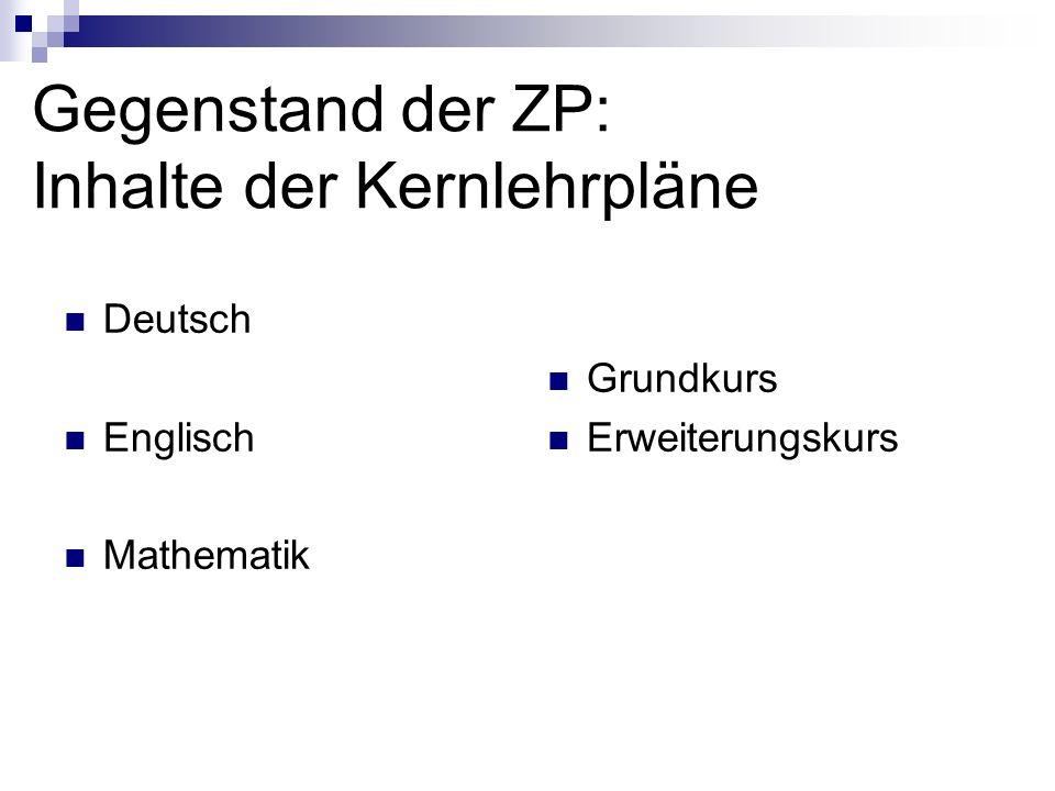 Schriftliche Prüfung DeutschEnglischMathematik zur Orientierung10 Min.