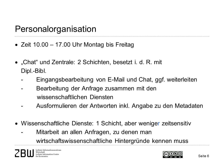 Seite 7 Auswahl der Software Umsetzung unseres gewünschten Organisationsmodells, d.