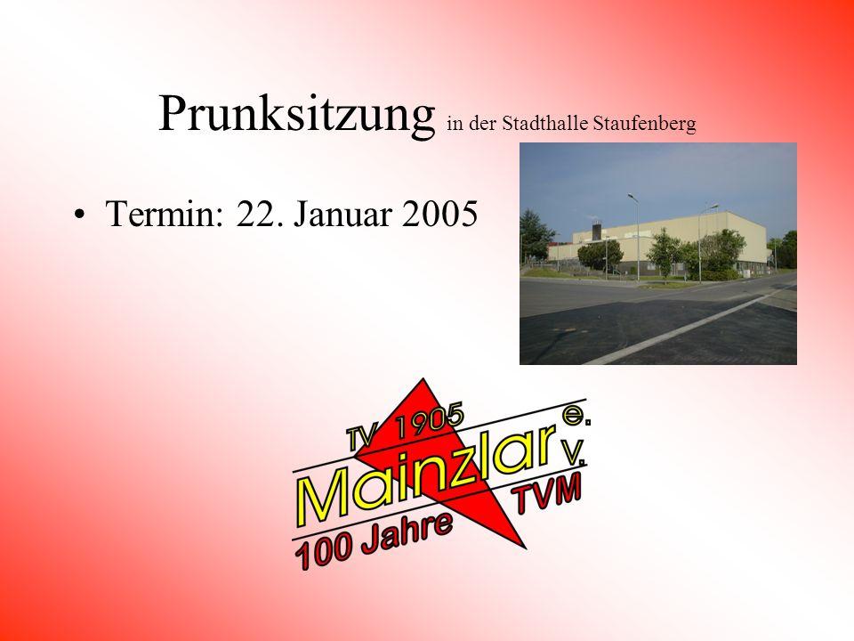 Neujahrsempfang in der Stadthalle Staufenberg Termin: 7. Januar 2005