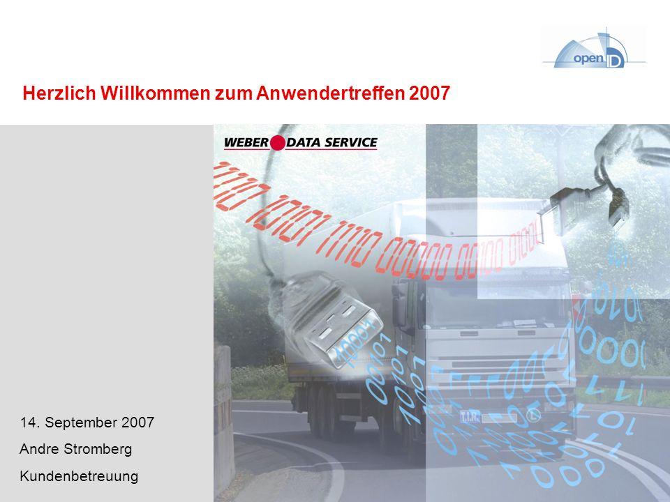 DPI – DISPONENTplus Internet Herzlich Willkommen zum Anwendertreffen 2007 14. September 2007 Andre Stromberg Kundenbetreuung