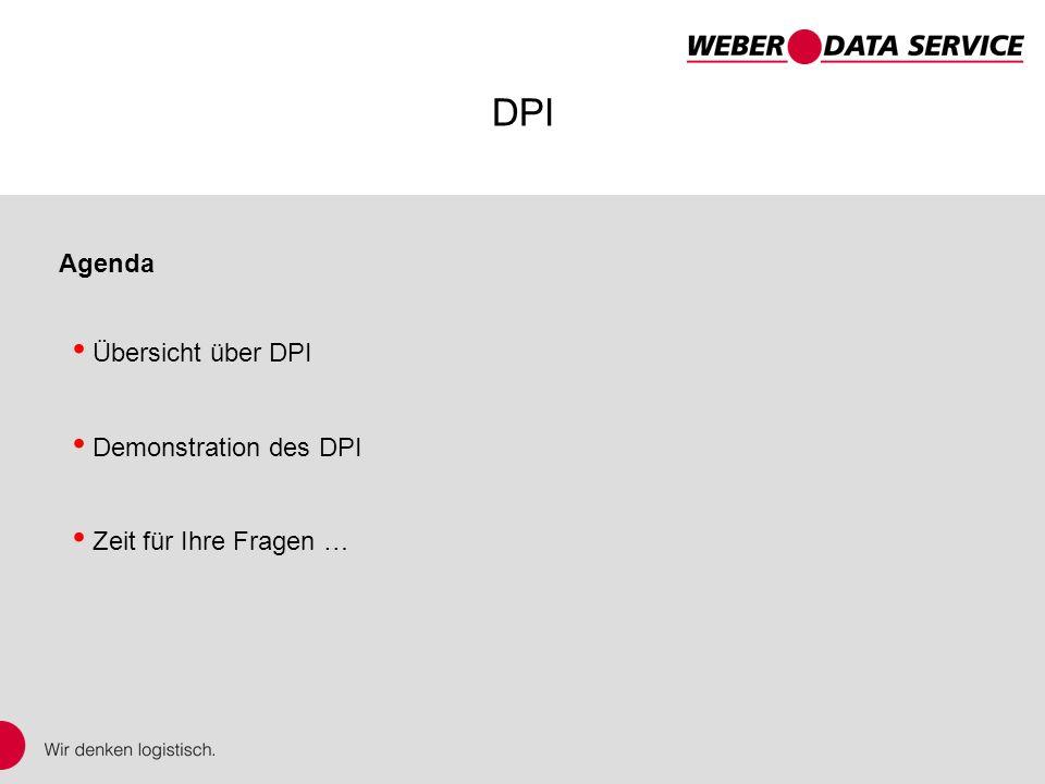 DPI – DISPONENTplus Internet DPI Agenda Übersicht über DPI Demonstration des DPI Zeit für Ihre Fragen …