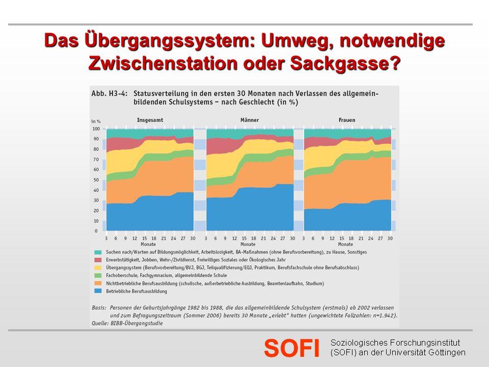 SOFI Das Übergangssystem: Umweg, notwendige Zwischenstation oder Sackgasse