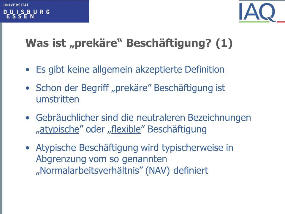 Entwicklung des Niedriglohnanteils seit 1980 (Vollzeitbeschäftigte - differenzierte Niedriglohnschwellen) Quelle: IAQ-Berechnung mit der IAB-Beschäftigtenstichprobe (bis 1998) und dem BA-Beschäftigtenpanel (ab 1999)