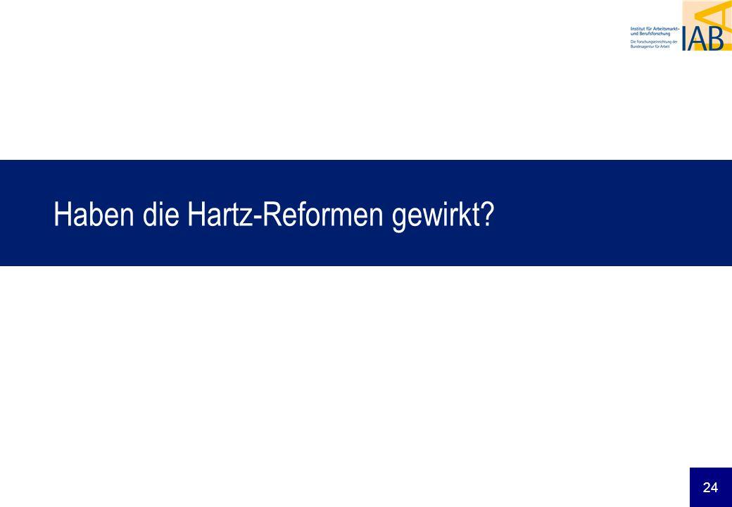 24 Haben die Hartz-Reformen gewirkt?