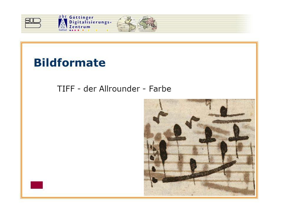 Bildformate TIFF - der Allrounder - Auflösungsstandards Bitonal - 600 ppi Graustufen & Farbe - mind.