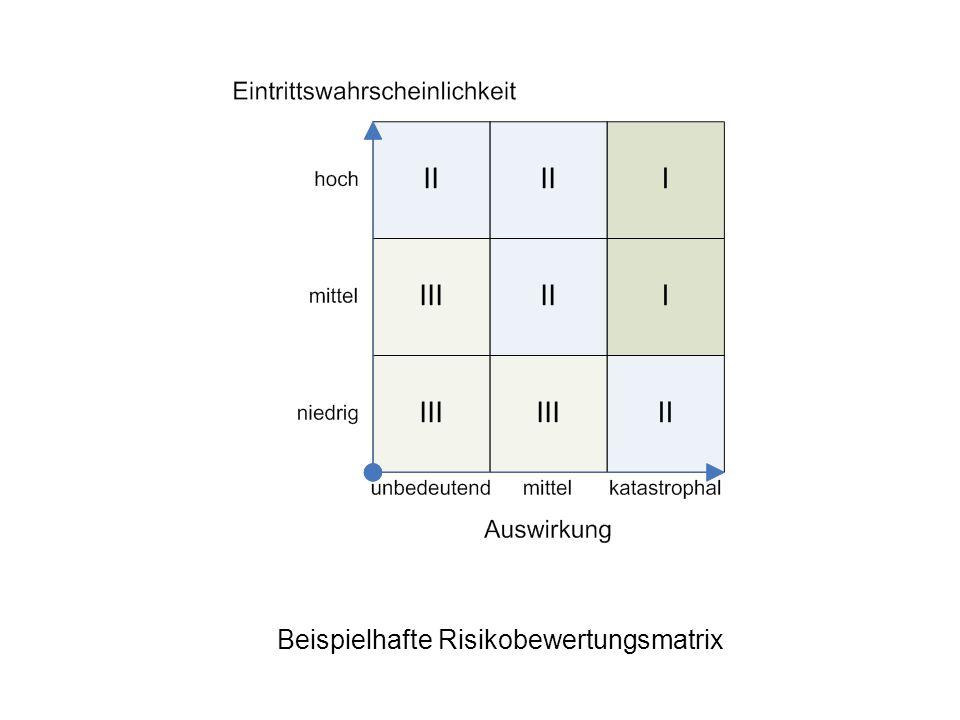 Beispielhafte Risikobewertungsmatrix