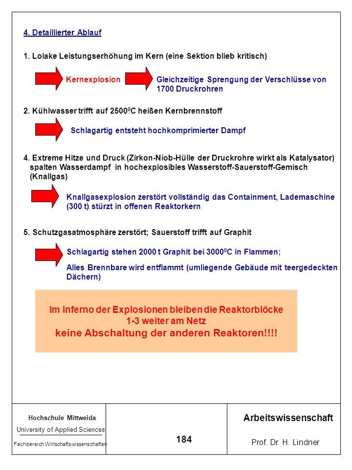 Hochschule Mittweida University of Applied Sciences Fachbereich Wirtschaftswissenschaften Arbeitswissenschaft Prof. Dr. H. Lindner 183 Hitze im Kern b