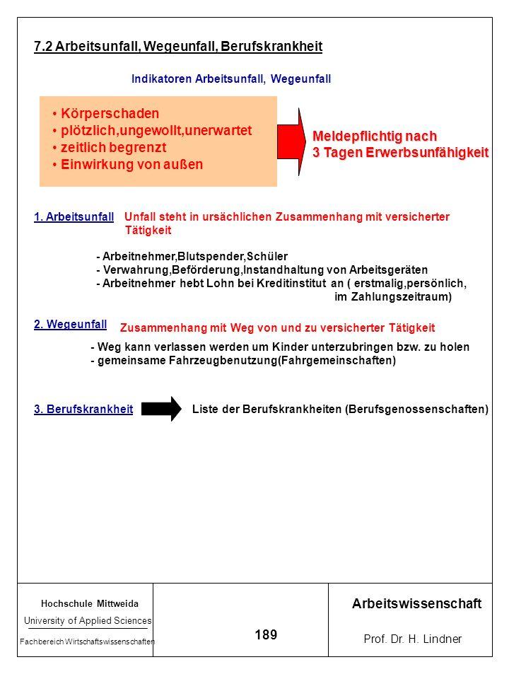 Hochschule Mittweida University of Applied Sciences Fachbereich Wirtschaftswissenschaften Arbeitswissenschaft Prof. Dr. H. Lindner 188 3. Hinweisende