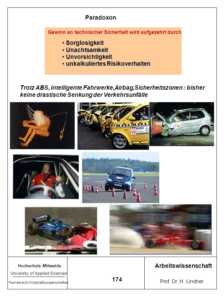 Hochschule Mittweida University of Applied Sciences Fachbereich Wirtschaftswissenschaften Arbeitswissenschaft Prof. Dr. H. Lindner 173 Beispiele Compu