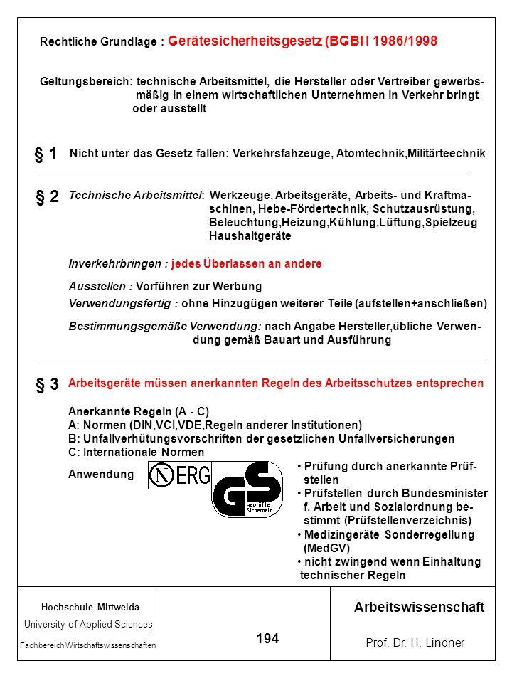 Hochschule Mittweida University of Applied Sciences Fachbereich Wirtschaftswissenschaften Arbeitswissenschaft Prof. Dr. H. Lindner 193 Arbeitsablaufab