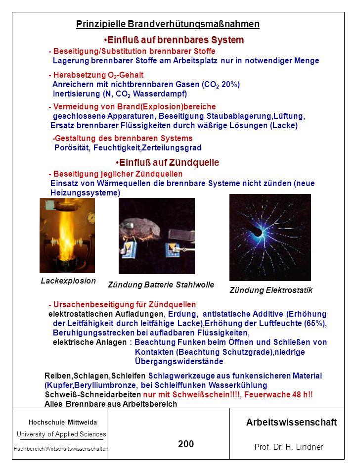 Hochschule Mittweida University of Applied Sciences Fachbereich Wirtschaftswissenschaften Arbeitswissenschaft Prof. Dr. H. Lindner 199 = Einstufung vo