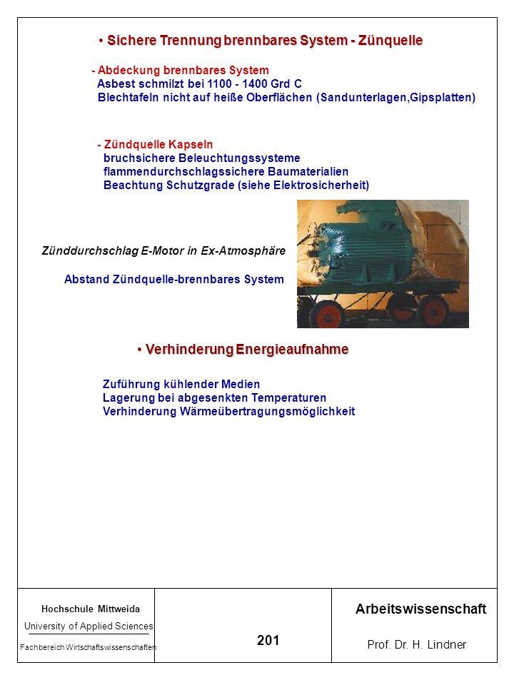Hochschule Mittweida University of Applied Sciences Fachbereich Wirtschaftswissenschaften Arbeitswissenschaft Prof. Dr. H. Lindner 200 Prinzipielle Br