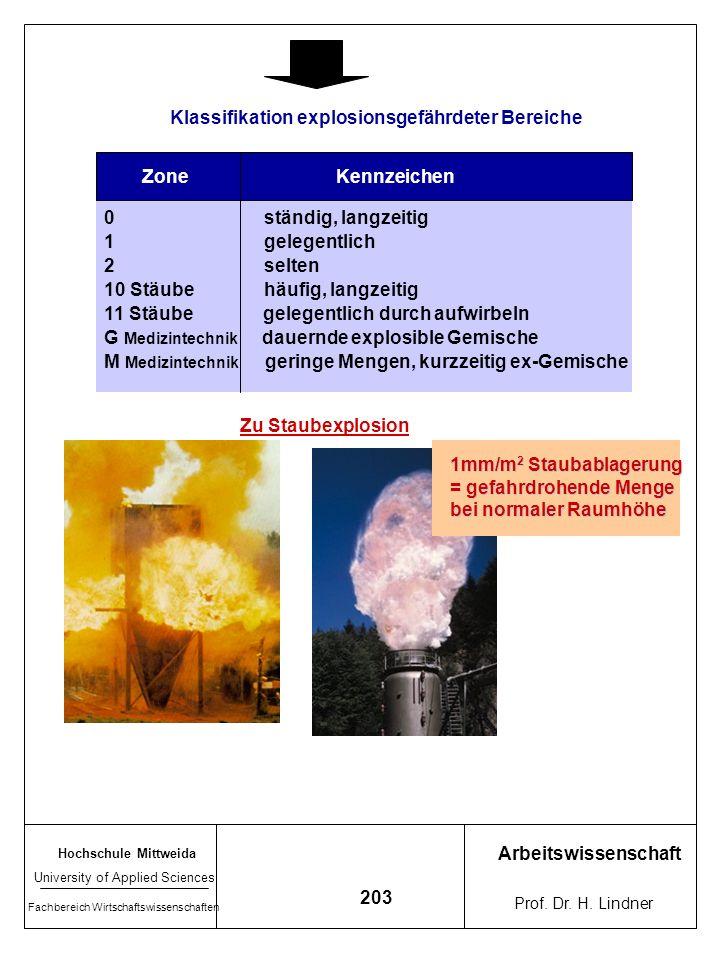 Hochschule Mittweida University of Applied Sciences Fachbereich Wirtschaftswissenschaften Arbeitswissenschaft Prof. Dr. H. Lindner 202 7.4.1 Explosion