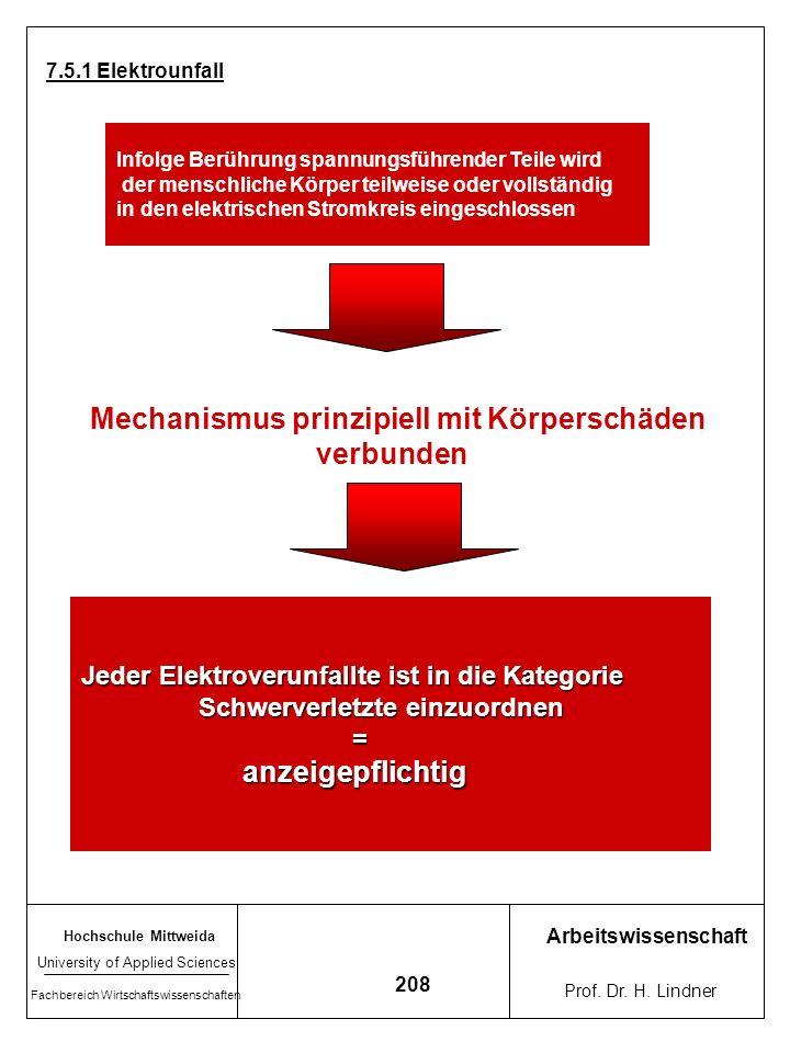 Hochschule Mittweida University of Applied Sciences Fachbereich Wirtschaftswissenschaften Arbeitswissenschaft Prof. Dr. H. Lindner 207 Statistik Elekt