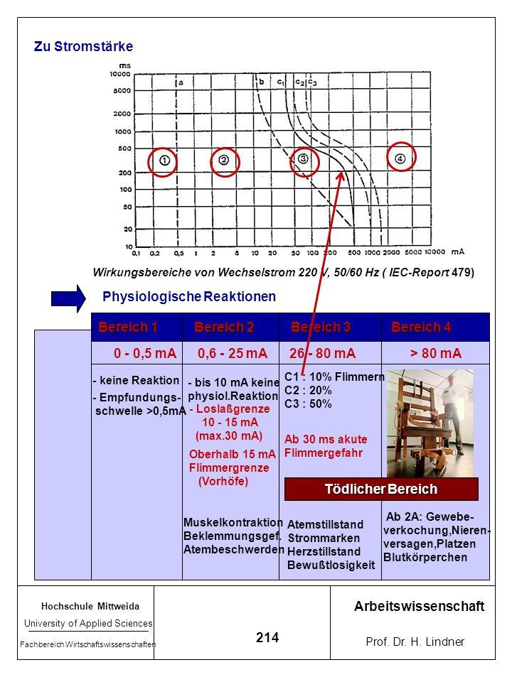 Hochschule Mittweida University of Applied Sciences Fachbereich Wirtschaftswissenschaften Arbeitswissenschaft Prof. Dr. H. Lindner 213 7.5.4 Faktoren,