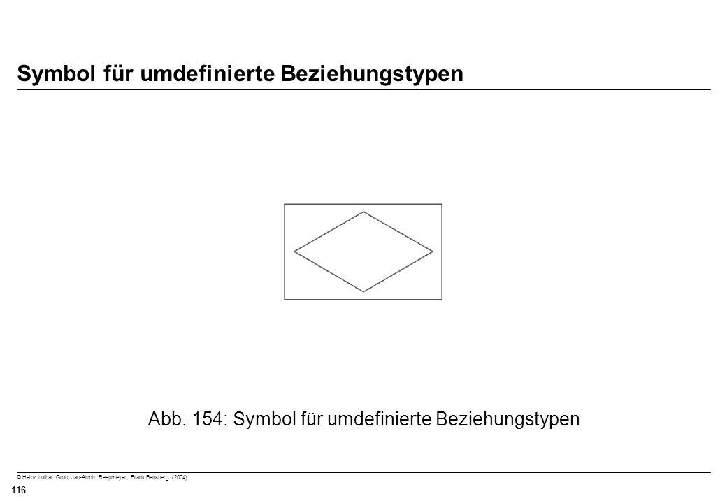 © Heinz Lothar Grob, Jan-Armin Reepmeyer, Frank Bensberg (2004) 116 Symbol für umdefinierte Beziehungstypen Abb. 154: Symbol für umdefinierte Beziehun