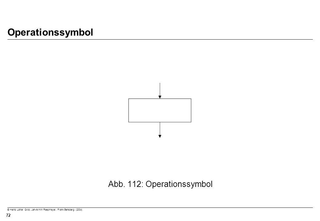 © Heinz Lothar Grob, Jan-Armin Reepmeyer, Frank Bensberg (2004) 72 Operationssymbol Abb. 112: Operationssymbol