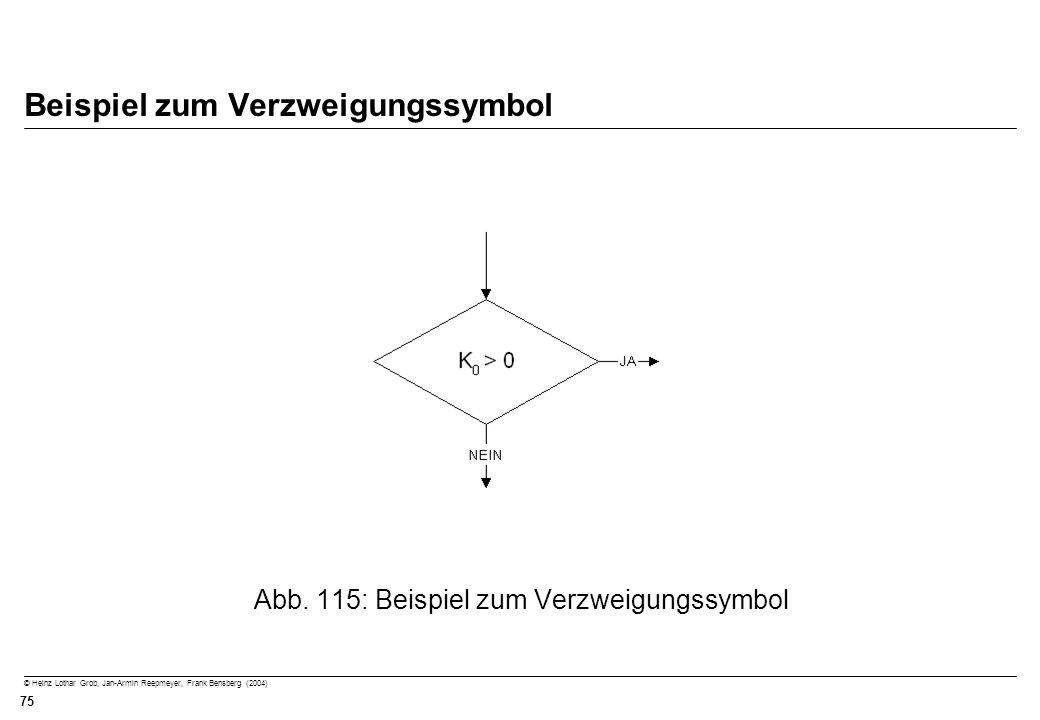 © Heinz Lothar Grob, Jan-Armin Reepmeyer, Frank Bensberg (2004) 75 Beispiel zum Verzweigungssymbol Abb. 115: Beispiel zum Verzweigungssymbol