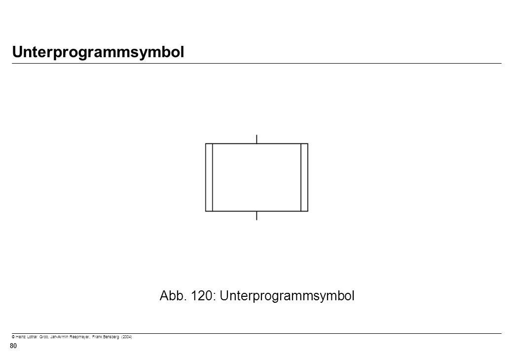 © Heinz Lothar Grob, Jan-Armin Reepmeyer, Frank Bensberg (2004) 80 Unterprogrammsymbol Abb. 120: Unterprogrammsymbol