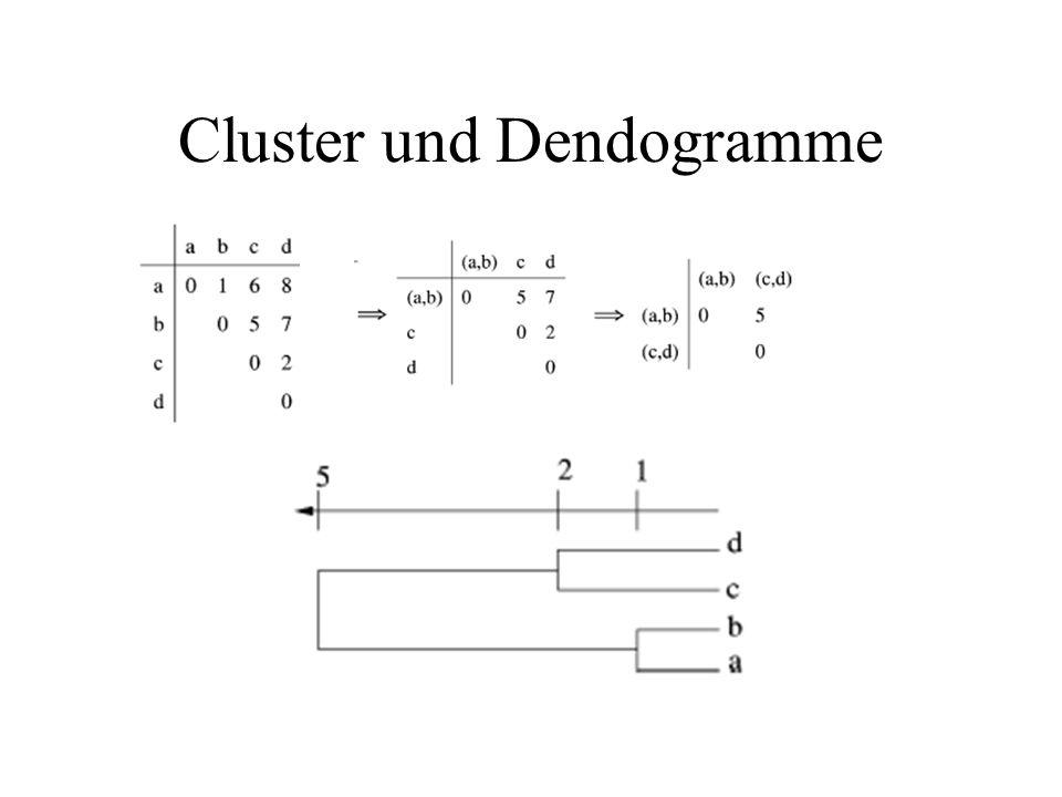 Cluster und Dendogramme