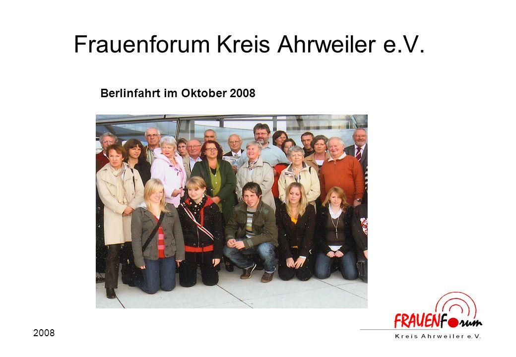 2008 Frauenforum Kreis Ahrweiler e.V. Berlinfahrt im Oktober 2008