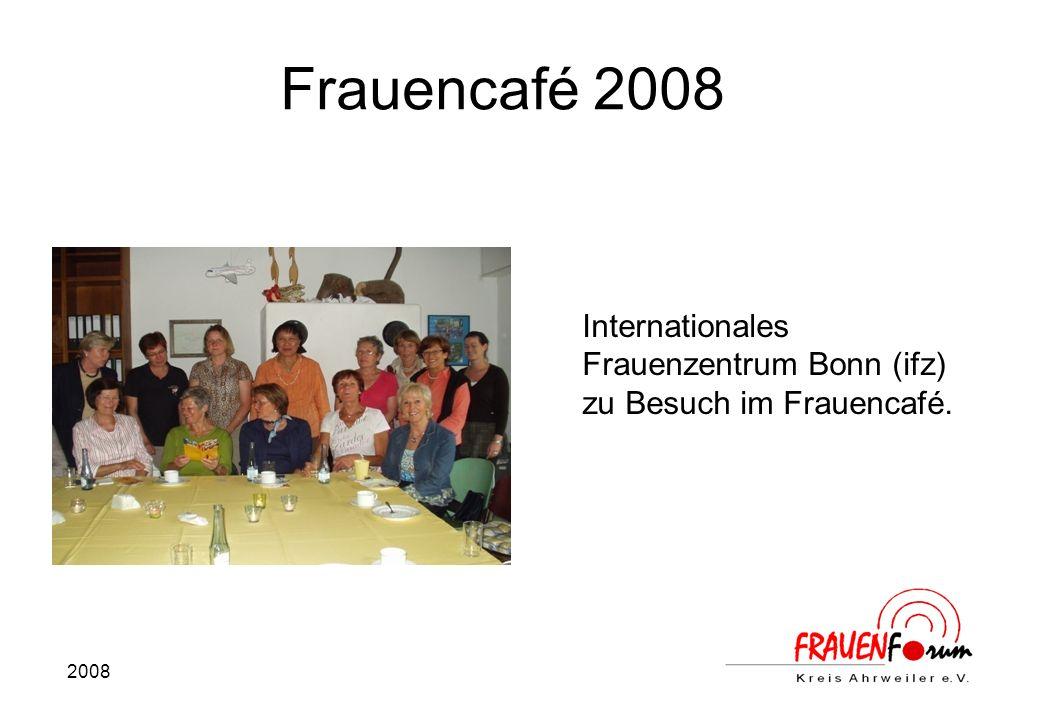 2008 Frauencafé 2008 Internationales Frauenzentrum Bonn (ifz) zu Besuch im Frauencafé.