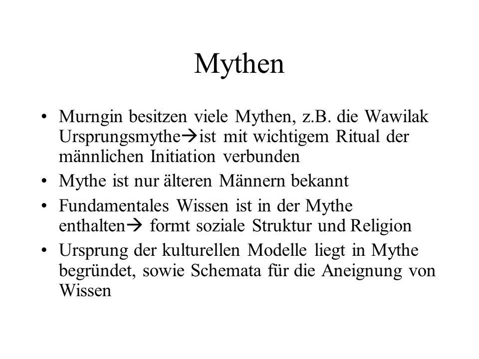 Mythen Murngin besitzen viele Mythen, z.B.