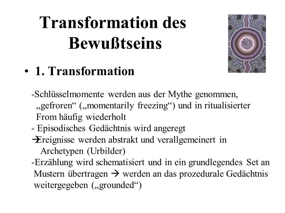 Transformation des Bewußtseins 1.