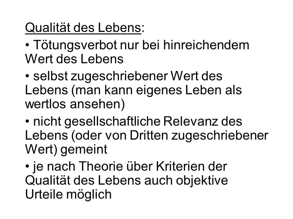 Sterbehilfe/Euthanasie: Euthanasieprogramm der Nazis: Wert (bzw.