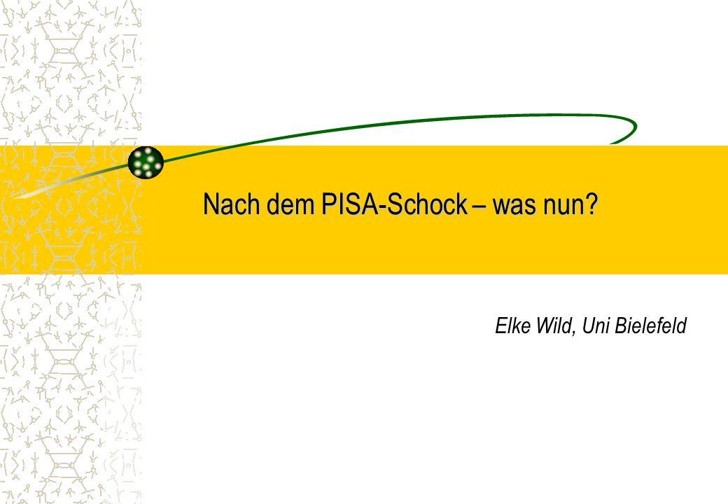 Elke Wild, Uni Bielefeld Nach dem PISA-Schock – was nun?