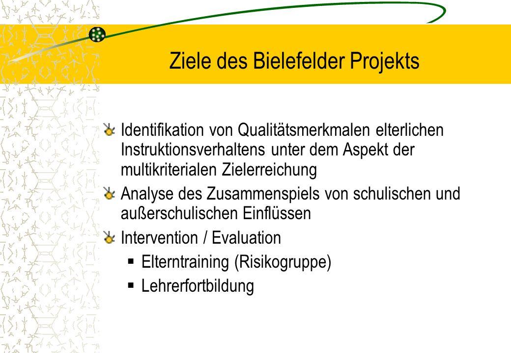 Identifikation von Qualitätsmerkmalen elterlichen Instruktionsverhaltens unter dem Aspekt der multikriterialen Zielerreichung Analyse des Zusammenspie