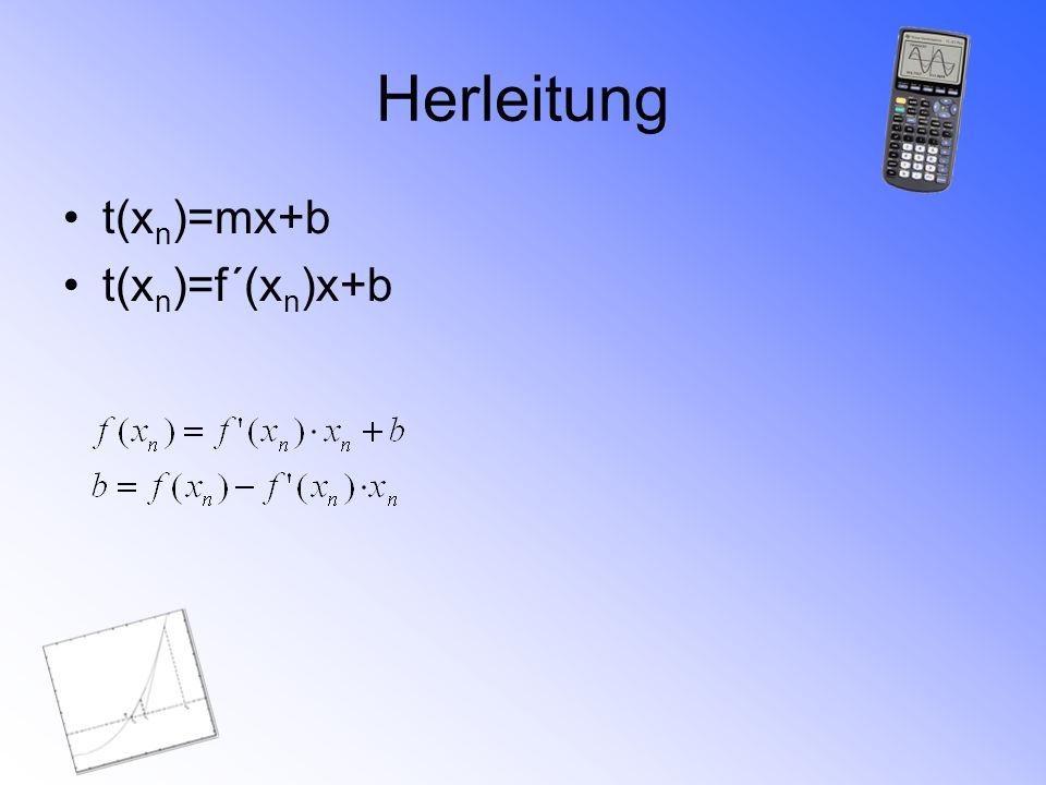 Beispielaufgabe 1 Bestimme eine Nullstelle der Funktion f(x)=x²+4