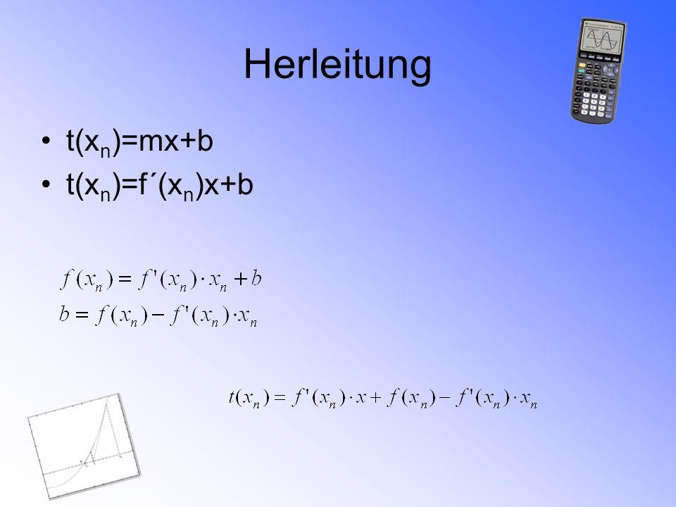 Beispielaufgabe 1 Bestimme eine Nullstelle der Funktion f(x)=x²-4
