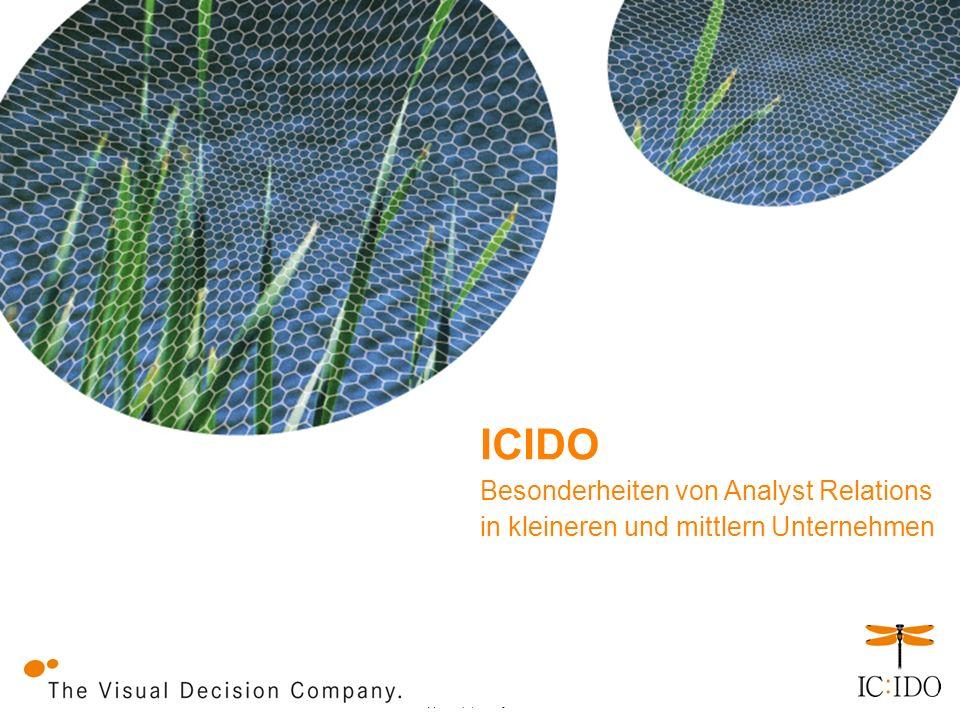 V x.y, date, verfasser Besonderheiten von Analyst Relations in kleineren und mittlern Unternehmen ICIDO