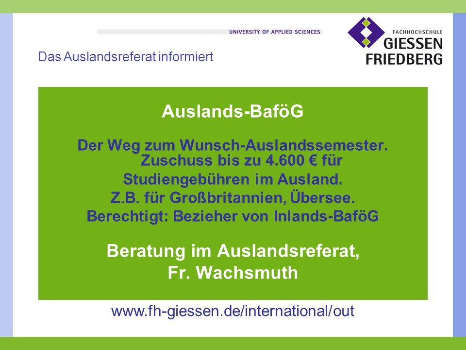 Auslands-BaföG Der Weg zum Wunsch-Auslandssemester.