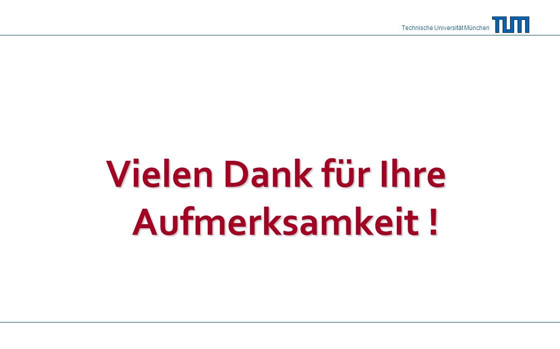 Technische Universität München Vielen Dank für Ihre Aufmerksamkeit !