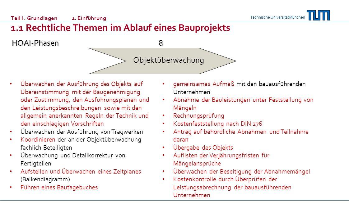 Technische Universität München Leistungsänderungen § 1 Abs.