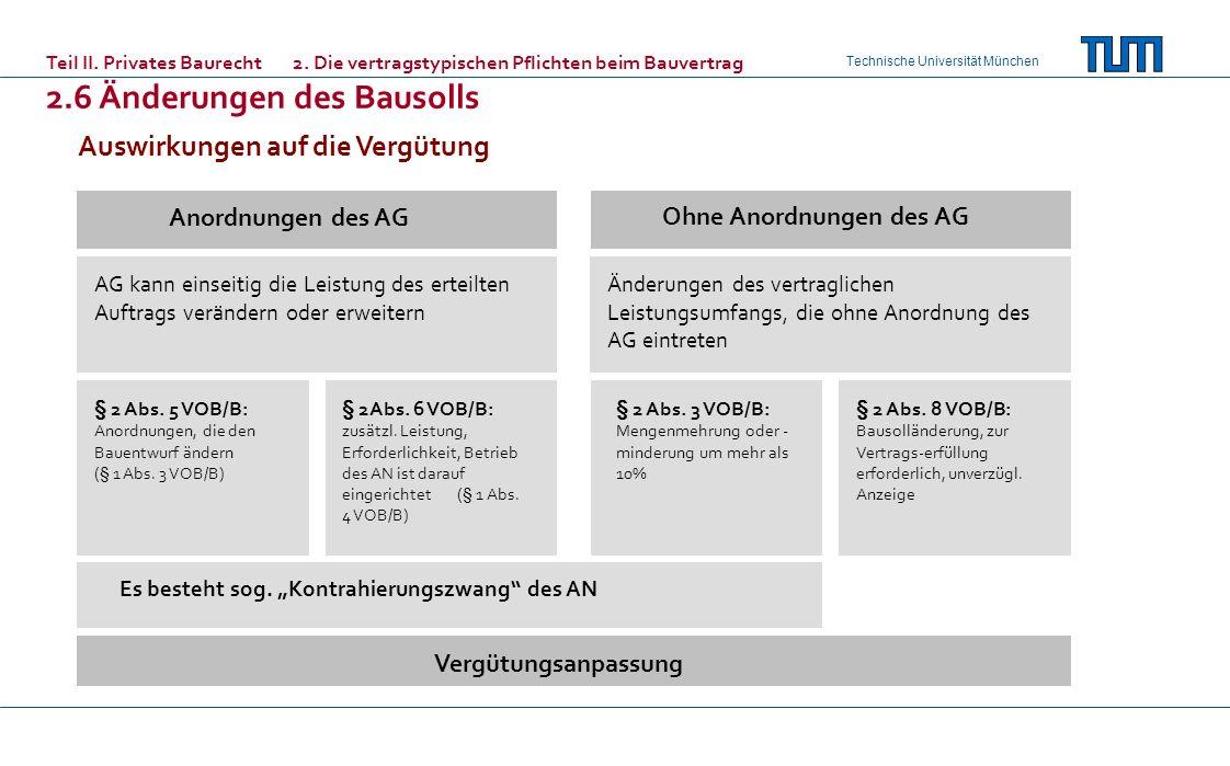 Technische Universität München AG kann einseitig die Leistung des erteilten Auftrags verändern oder erweitern Änderungen des vertraglichen Leistungsum