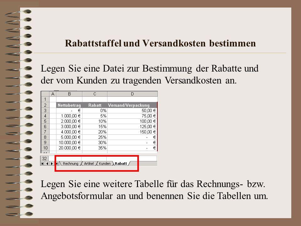 Formular gestalten Logo Anschriftenfeld Kunden- und Rechnungsnummer Rechnung- bzw.