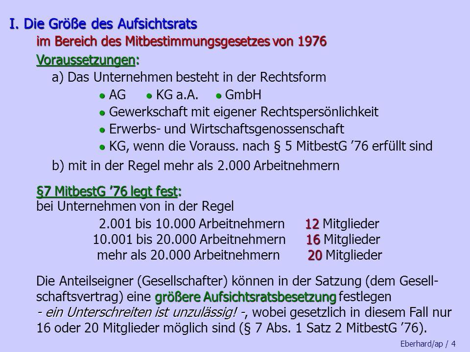 Sammelbeschluss und/oder Einzelbeschlüsse sind möglich einvernehmliche Beschlussfassung bei jeder einzelnen Abstimmung ohne Gegenstimme heisst: keine Nein-Stimme (Enthaltungen oder ungültige Stimmen gelten als Ja-Stimme) Eberhard/ap / 24 § 8 Abs.